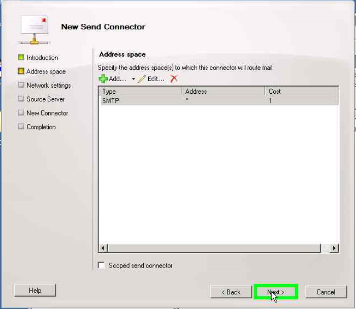 Configure Send and Receive connectors in Exchange Server 2010r 2010