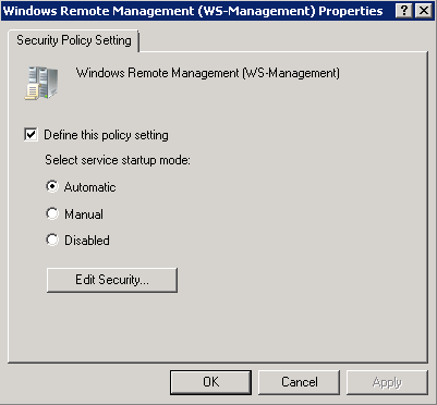 Enable Powershell Remoting via Group Policy on Windows7