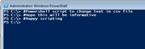 Powershell csv text change