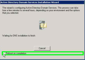 Actib=ve Directory Installation Wizard