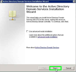 Active Directory Installation Wizard