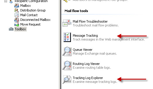 Message Tracking in Exchange Server 2010