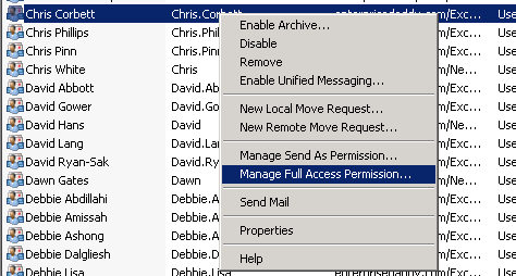 Managing Mailbox Permissions in Exchange Server 2010