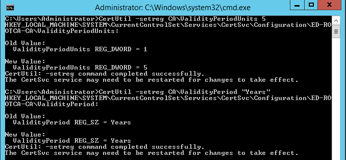 How to install Root Certificate Authority on Windows Server 2012