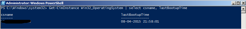 Powershell - Get last boot time of remote computers