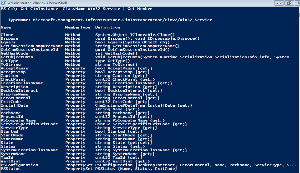 Powershell -  Find the Start mode and Startup account for services