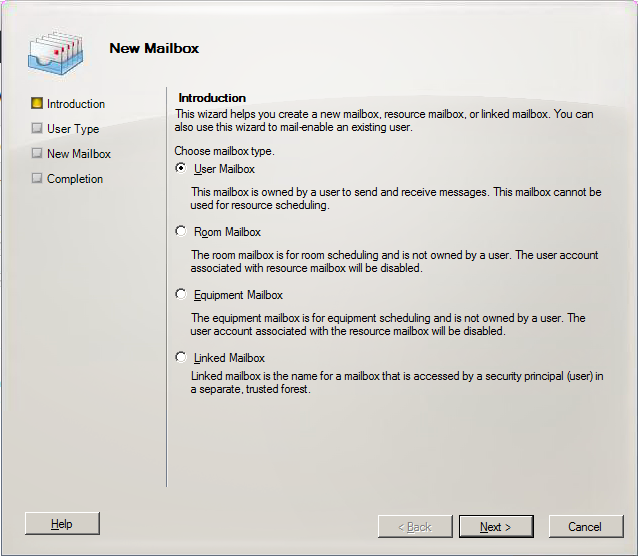 How to create Shared mailbox in Exchange Server 2010