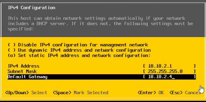 Installing of Nested ESXi hosts