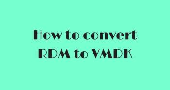 How to convert RDM to VMDK