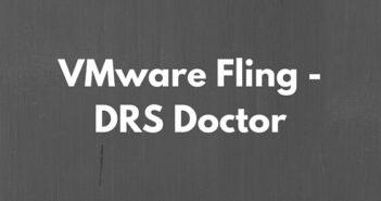 VMware Fling - DRS Doctor