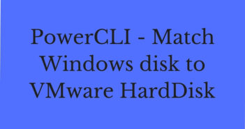 PowerCLI - Match Windows disk to VMware HardDisk