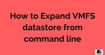 Expand VMFS datastore from command line