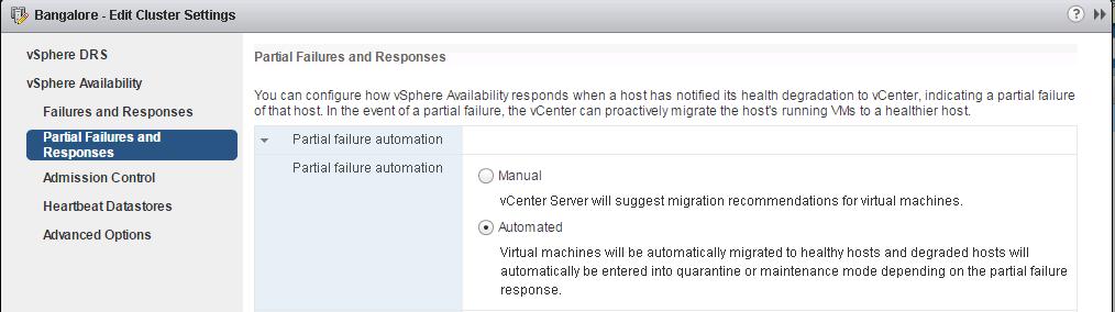 VMware vSphere 6.5 new features - HA