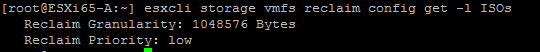 vSphere 6.5 - Automatic Space Reclamation (VMFS UNMAP) in VMFS 6