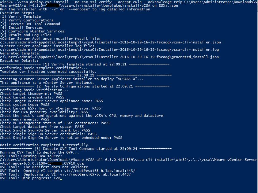 vcsa-deploy - Install vCenter Appliance (VCSA) 6.5 using CLI