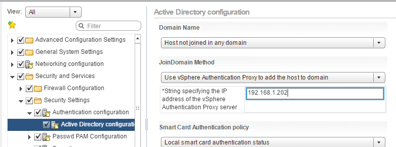 vSphere 6.5 - vSphere Authentication Proxy Service
