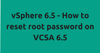 How to reset root password on VCSA 6.5