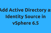 Add Active Directory as Identity Source in vSphere 6.5