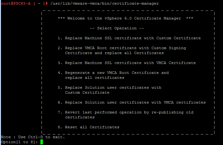 Configure PSC HA in vSphere 6.5 - Part 1 - Configuring Certificates
