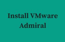 Install VMware Admiral