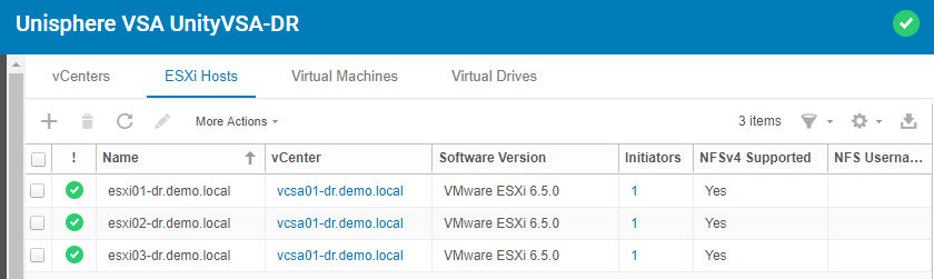 VMware Site Recovery Manger (SRM 6.5) Part 9 - Configure EMC UnityVSA Replication
