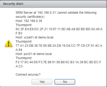 VMware Site Recovery Manager (SRM 6.5) Part 3 - Pair SRM Sites