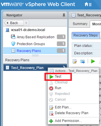 VMware Site Recovery Manager (SRM 6.5) Part 12 - Create Recovery Plan