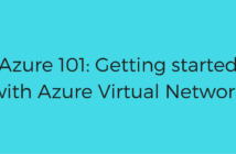 Getting started with Azure Virtual Network
