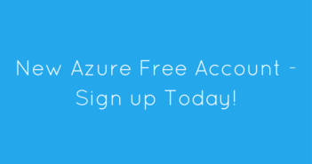 New Azure Free Account - Signup today!