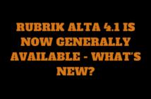 Rubrik Alta 4.1