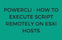PowerCLI - How to execute script remotely on ESXi hosts