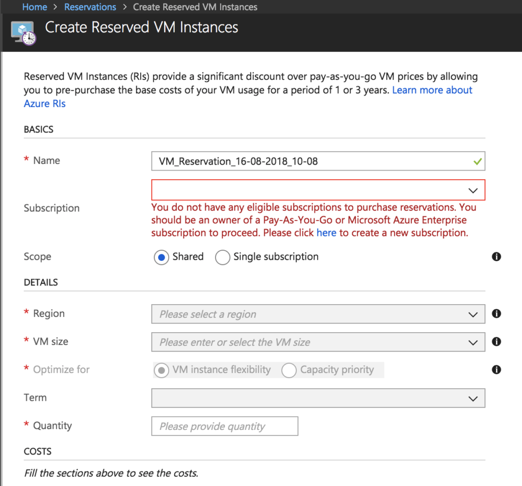 Azure Reserved Instances for Virtual Machines Explained